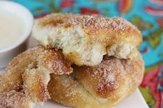 Homemade pretzels (with cinnamon-sugar)