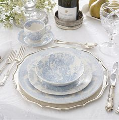 'Charlotte' china, made by Burleigh of England for Ralph Lauren.  Dining  Possibly incorrectly identified
