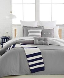 Lacoste Solid Silver Sconce Brushed Twill Comforter and Duvet Cover Sets