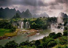 Vue panorama de Cao Bang