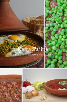 Ein einfaches Rezept für eine marokkanische Tajine. Die Kombination aus Hackfleischbällchen und Erbsen mit Tomatensoße essen auch Kinder gern. Chicken Tikka Masala Rezept, Tagine, Tasty Meatballs, Spareribs, Peanut Chicken, Best Meat, Sauce Tomate, Cooking Instructions, How To Cook Pasta