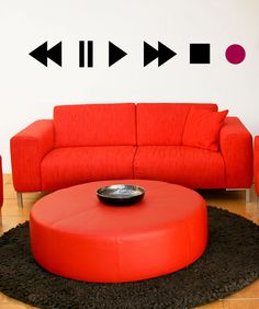 Vinyl Wall Decal Sticker Play Buttons #OS_MB897 $30 just my style