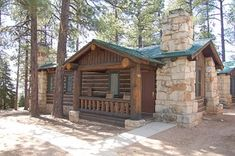Grand Canyon Lodge - North Rim. Cute log cabins in a beautiful location.