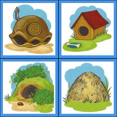 dieren + woonplaats 6 Animals That Hibernate, Tame Animals, Animals And Pets, English Activities, Preschool Activities, Activities For Kids, Animals And Their Homes, Anime Backgrounds Wallpapers, Mother's Day Diy