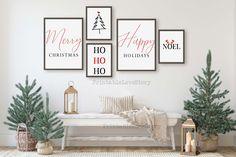 Christmas Wall Art, Christmas Frames, Christmas Posters, Minimalist Christmas, Modern Christmas, Simple Christmas, Or Mat, Christmas Settings, Home Decor Signs
