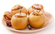 Manzanas asadas en el microondas Caramel Apples, Cantaloupe, Onion, Garlic, Fruit, Vegetables, Desserts, Recipes, Food