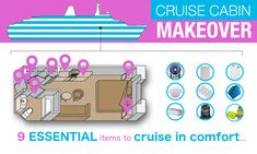 9 Cruise Accessories to make your Cruise Cabin MUCH more comfortable!