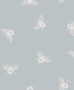 Bees Wallpaper in Starling Egg Blue - Peony & Sage Peony Sage - Busy Bees Wallpaper Egg Blue. This is what I'd like in the downstairs loo. This is what I'd like in the downstairs loo. Bathroom Wallpaper, Of Wallpaper, Nature Wallpaper, Designer Wallpaper, Duck Egg Blue Wallpaper, Temporary Wallpaper, Striped Wallpaper, Stunning Wallpapers, Blue Wallpapers
