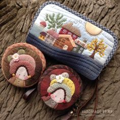 Term Nok's media statistics and analytics Japanese Patchwork, Patchwork Bags, Quilted Bag, Wool Applique, Applique Quilts, Felt Crafts, Diy And Crafts, Small Sewing Projects, Quilting