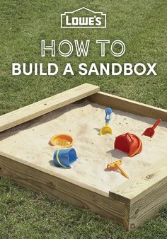 Keep your children engaged in simple, clean fun for hours by building them a sandbox. All you need is a little space, a weekend and some basic carpentry skills.
