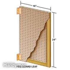 Flip-through tool storage.  Peg-board details.  Use these to hang up all those small parts w/peg type packaging somewhat intact.  Family Handyman