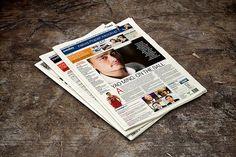 Newspaper Mock-Up by alexvisual on @creativemarket