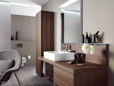 Adorable Wooden Bathroom Designs with Elegant Interior Ideas : Modern And Contemporary Bathroom Design With Wooden Bathroom Cabinet Design Your Own Bathroom, Latest Bathroom Designs, Modern Bathrooms Interior, Bathroom Interior Design, Interior Ideas, Bad Inspiration, Bathroom Inspiration, Bathroom Ideas, Bathroom Vanities