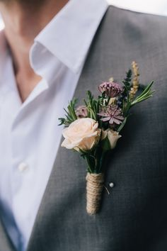 Charming Outdoors Barn Wedding Peach Buttonhole http://www.brighton-photo.com/