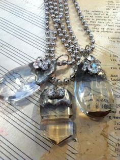 soldered chandelier Crystal....Great idea