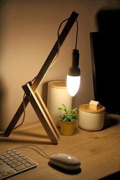 DIY lampe design minimaliste en bois