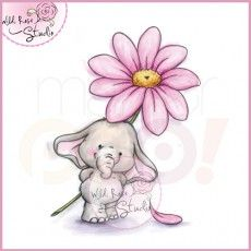 Wild Rose Studio Clear Stamp - Bella with Daisy
