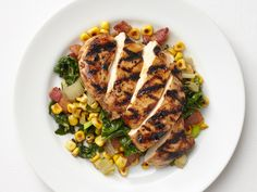 Balsamic Chicken with Corn and Swiss Chard Recipe : Food Network Kitchen : Food Network - FoodNetwork.com