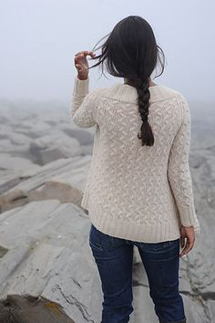 Knitting this cardi right now! She says in the directions that the cable pattern is easy to memorize, and she's right.