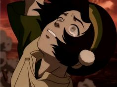 Can you imagine how she felt? She couldn't see anything, she's just dangling in midair with nothing but sokka to hold onto. He's the only thing she can sense. My feels for tokka is just done