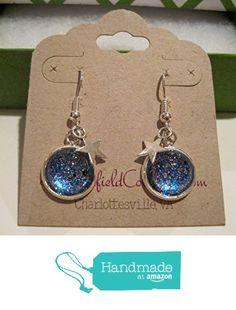 Glitter Glass Star Galaxy Dangle Earrings Blue and Silver from Summerfield Collection http://www.amazon.com/dp/B017X069GI/ref=hnd_sw_r_pi_dp_Vzurwb00FDK4C #handmadeatamazon