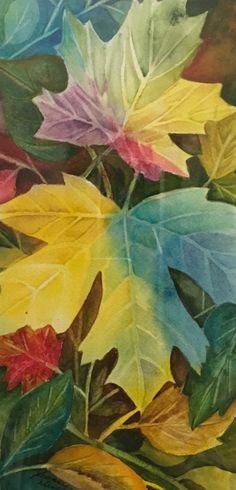 Maple! Watercolour Instagram #art.by.joh