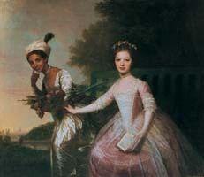 Dido Elizabeth Belle (1761?–1804), attrib. Johan Zoffany, c.1780 [left, with Lady Elizabeth Murray]