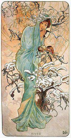 Alphonse Mucha ~ HIVER (1896)