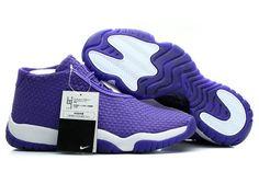 "Mens Michael Jordan Future White/Purple ""Dark Concord"" 2014 New Nike Shoes"