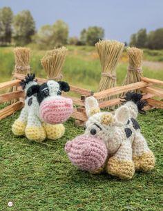 Crochet a Farm: 19 Cute-as-Can-Be Barnyard Creations Cows