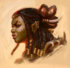 Cheesecake pictures of orcs Fantasy Portraits, Character Portraits, Fantasy Rpg, Fantasy Girl, Dnd Characters, Fantasy Characters, Fictional Characters, Fantasy Character Design, Character Art