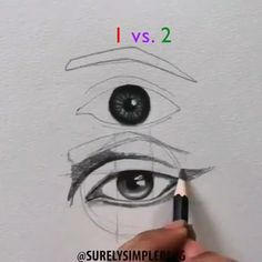 Amazing art and drawing techniques. Amazing art and drawing techniques. Pencil Art Drawings, Art Drawings Sketches, Cool Drawings, Drawings Of Eyes, Sketch Drawing, Eye Drawing Tutorials, Art Tutorials, Drawing Eyes, Painting & Drawing