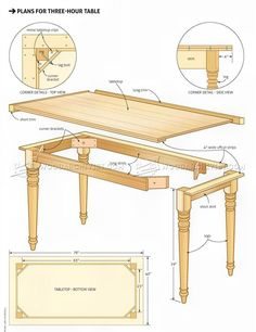 Easy Table Plans - Furniture Plans