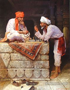 oil painting indian people