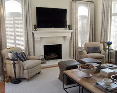 Combining plantation shutters with curtains