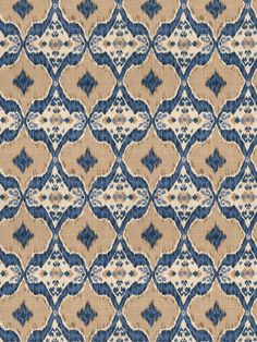 Nomadic in color Indigo from the Isabelle de Borchgrave collection for Fabricut.