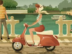 Just finished a series of vintage inspired postcard illustrations.