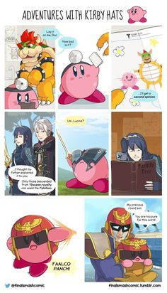 Pinning purely for Captain Falcon- I always thought Captain Kirby was so cute!