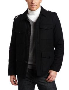Perry Ellis Men's Melton Four-Pocket Car Coat, Black, XXL Perry Ellis ++ You can get best price to buy this with big discount just for you.++