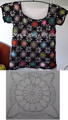 crochet top! Crochet motif