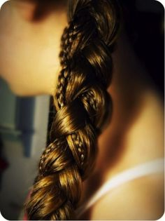 Take 3 long strands of hair then braid a small piece in 1 of the strands. After you do those steps braid the 3 strands together!