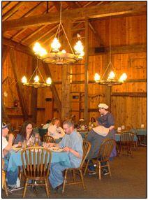 Barn Restaurant at Sauder Village -- up to 350 seated.