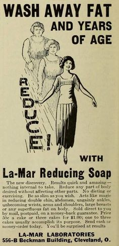 We only promise to keep your hand soft and clean, and to help build Habitat for Humanity Houses. #beclean #humor #HabitatReStore Fat-reducing soap from 1925. | 25 Health Products You'll Be Glad You Don't See Today