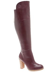 The over the knee boot is back and hotter than ever in luxe leather. Walk tall in this dressy heeled boot that features a side zipper for easy entry. Wide calf and wide width for your comfort.  lanebryant.com