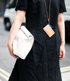 clutch bag and necklace