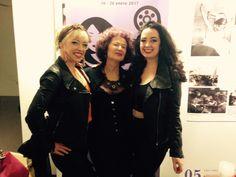Con amigas Americanas! Que trabajan el espectáculo! En el Festival de Cine de la Dona