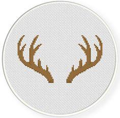 FREE Antler Cross Stitch Pattern                                                                                                                                                                                 More