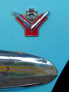 1956 Ford painted with Robin's Egg Blue.