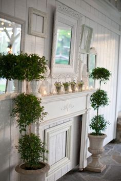 White-Shabby-Chic-Mantle-Decor | photography by http://www.kristynhogan.com/