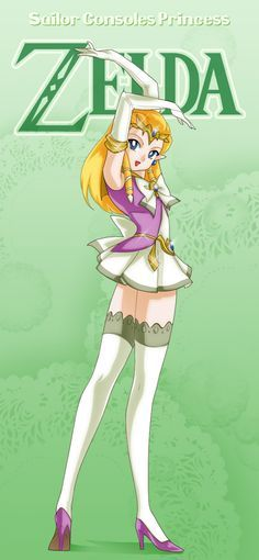Non-Disney Sailor Zelda I feel like she would be Usagi/Serena (Sailor moon) Sailor Princess, Moon Princess, Twilight Princess, Manga Anime, Manga Sexy, Sailor Moons, Disney Love, Disney Art, Sailor Moon Personajes
